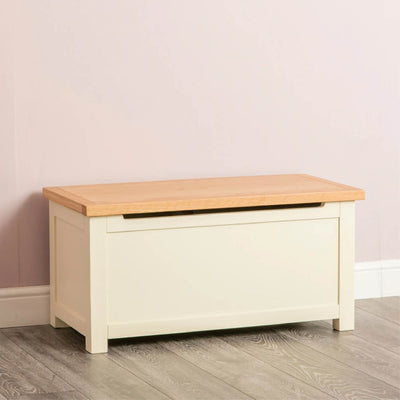 Farrow Cream Chest Blanket Box Ottoman by Roseland Furniture