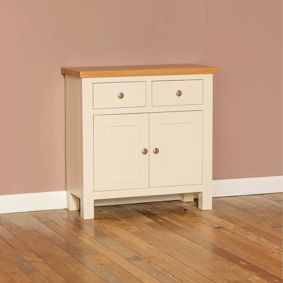 Farrow Cream 2 cupboard 2 drawer mini sideboard unit by Roseland Furniture