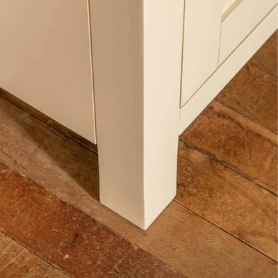 Farrow Cream 2 cupboard 2 drawer mini sideboard unit cupboard leg