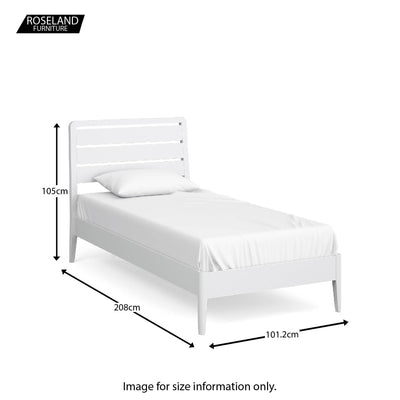 Chester White 3' Bed - Size guide