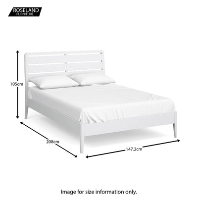 Chester White 4'6 Bed - Size guide