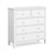 Chester White 2 Over 3 Chest of Drawers by Roseland Furniture