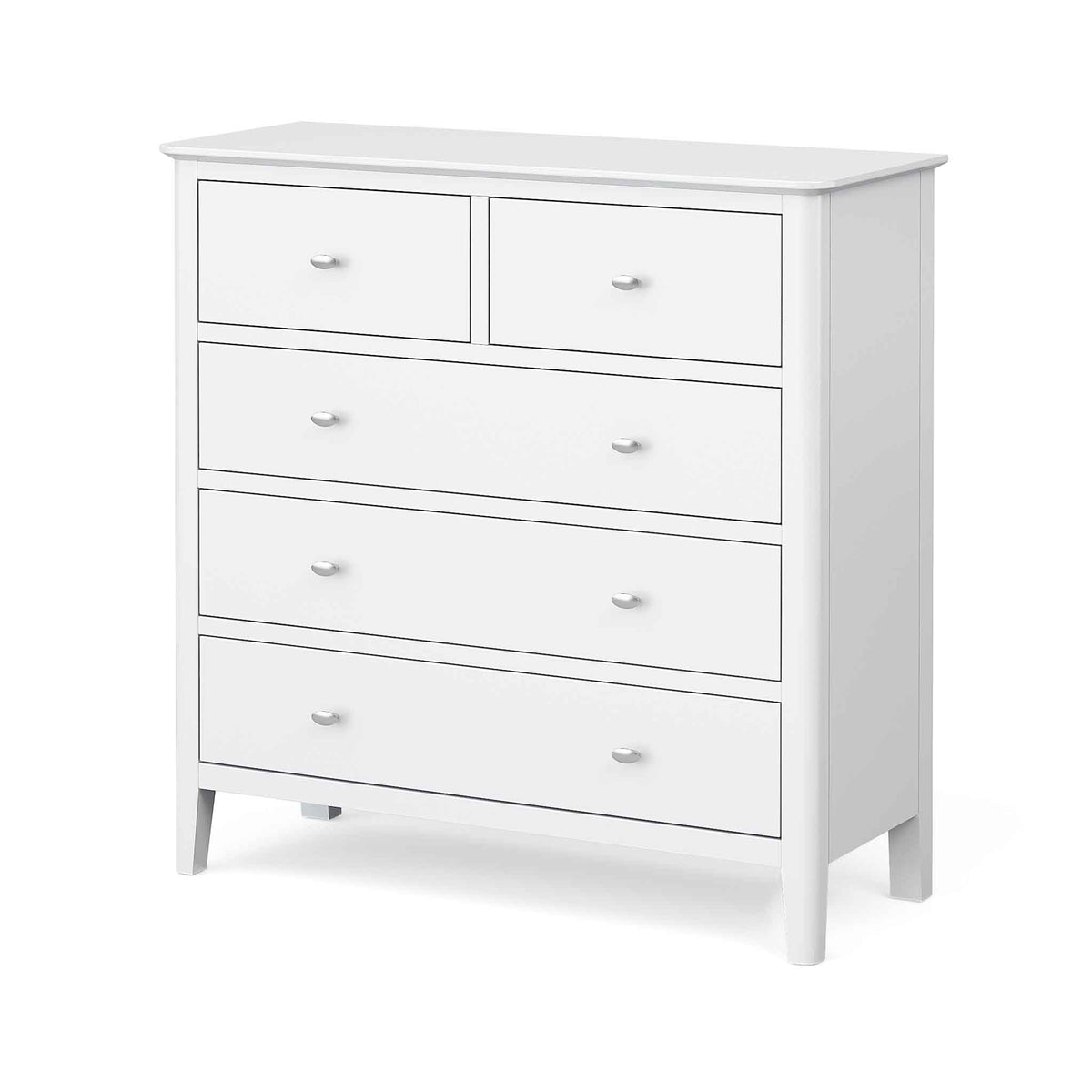 Chester White 2 Over 3 Chest of Drawers - Side view