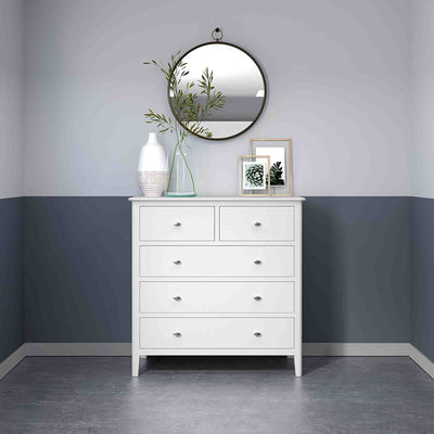 Chester White 2 Over 3 Chest of Drawers - Lifestyle view