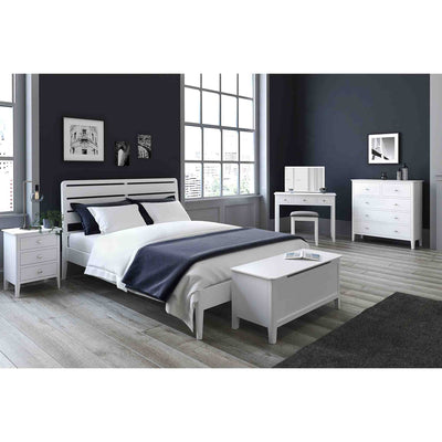 Chester White 2 Over 3 Chest of Drawers - Bedroom lifestyle view