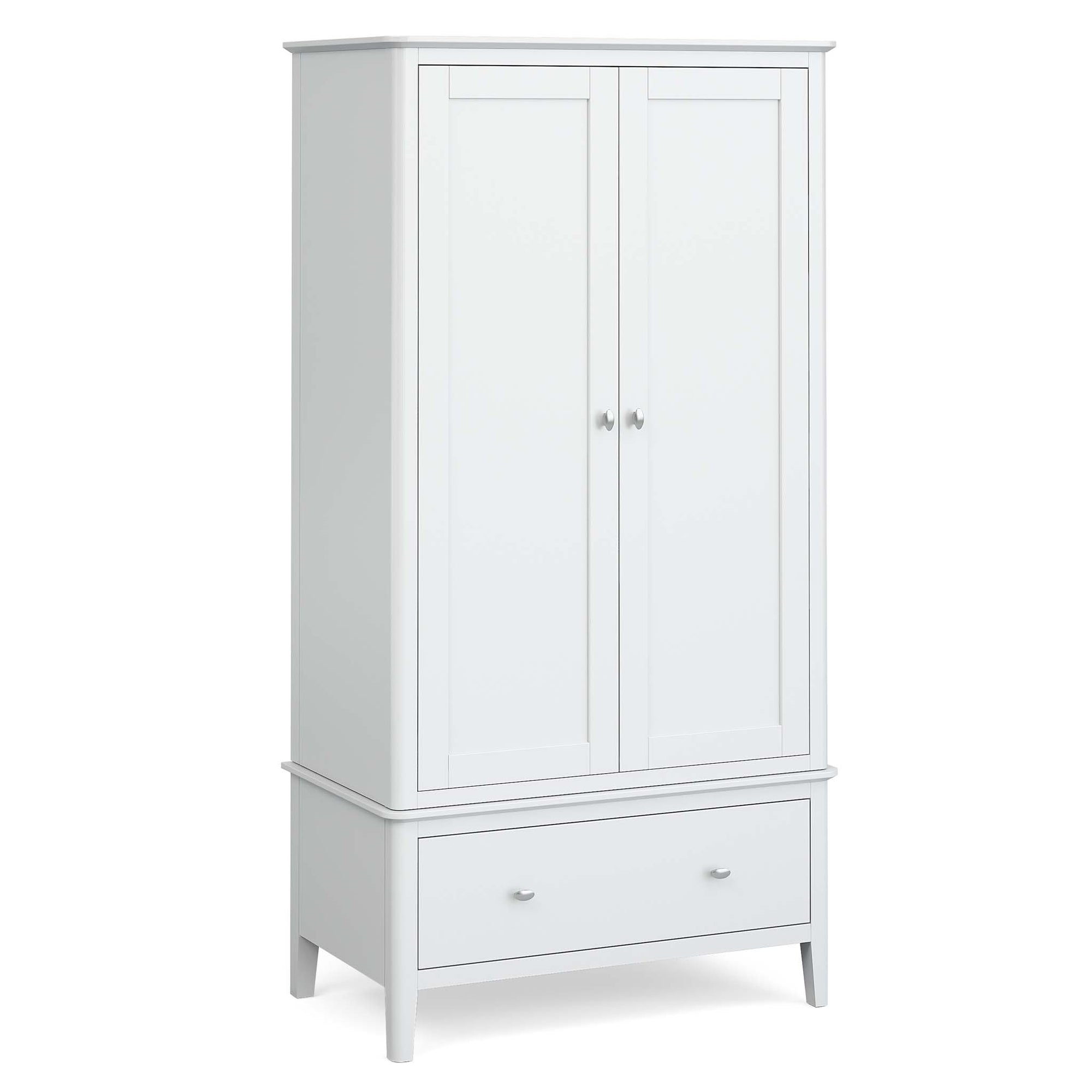 Chester White Double Wardrobe with Drawer by Roseland Furniture