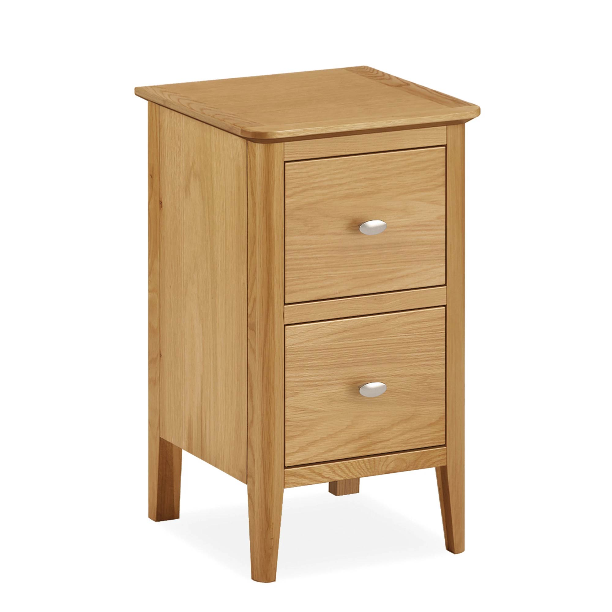 Alba Oak Narrow Bedside Table by Roseland Furniture