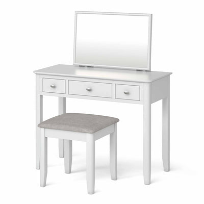Chester White Dressing Table Set - Side view