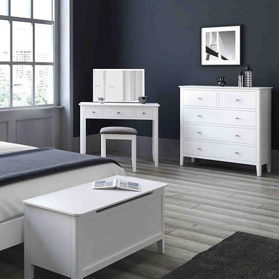 Chester White Dressing Table Set - Lifestyle view 2
