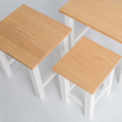 Farrow White Nested Tables