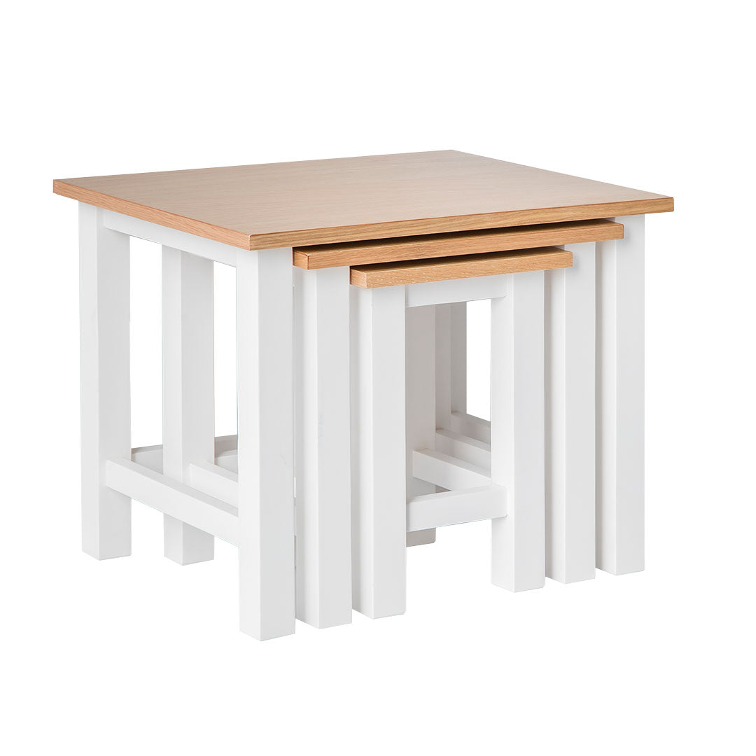 Farrow White Nest of Tables by Roseland Furniture