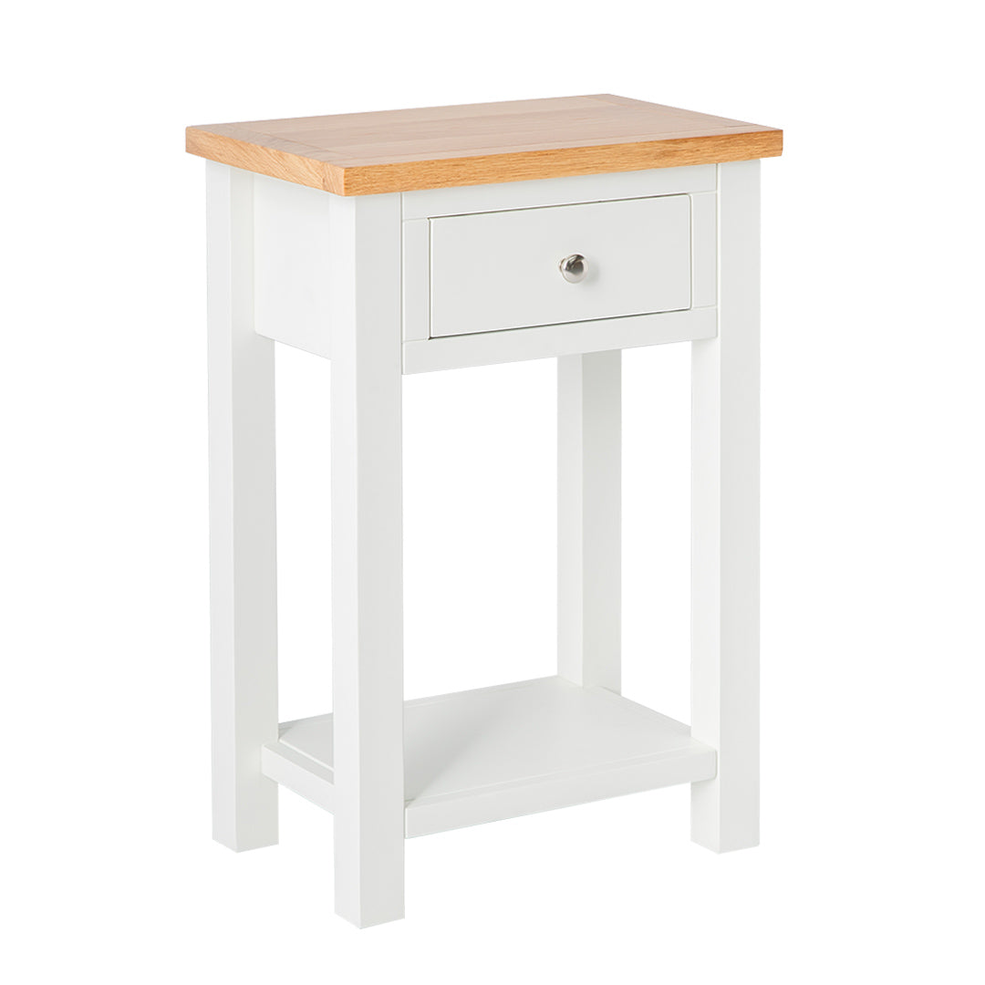 Farrow White Telephone Table by Roseland Furniture