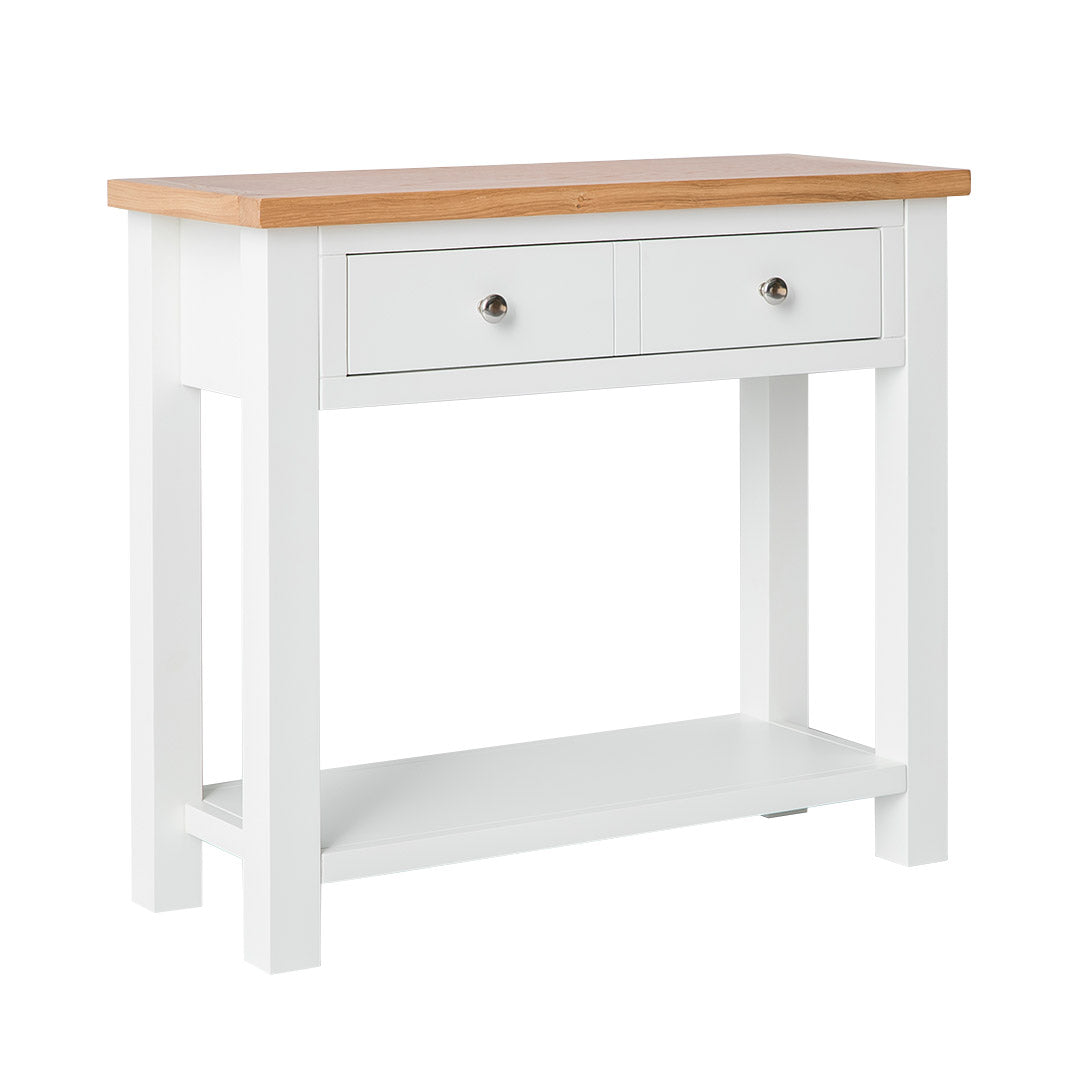 Farrow White Console Table by Roseland Furniture