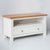 Side view of the Farrow White 90cm Small Television Unit