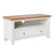 Farrow White 90cm Small TV Unit by Roseland Furniture