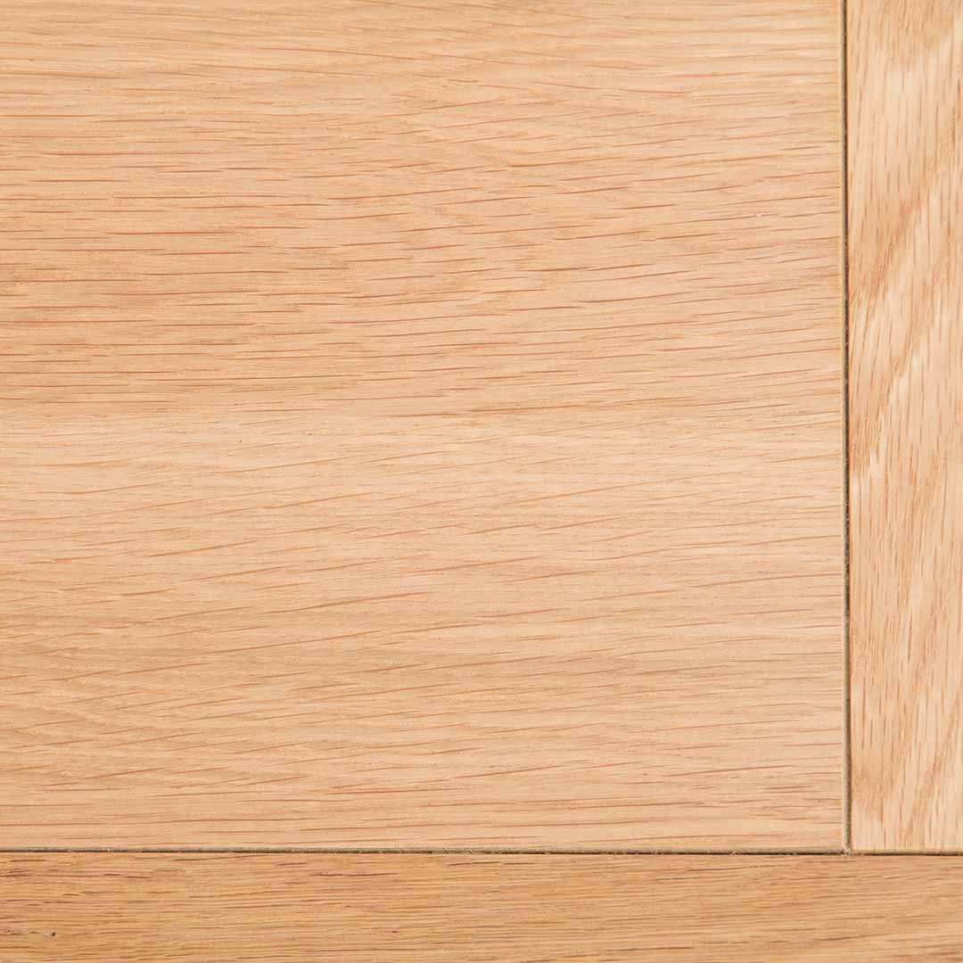 Close up of oak table top