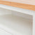 Close up of the open shelf on the Farrow White 90cm Small TV Unit