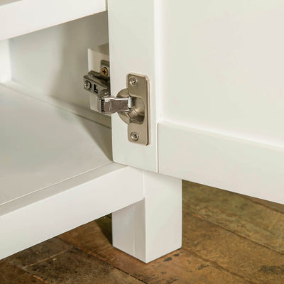 Farrow white 120cm TV Stand Unit door hinge view