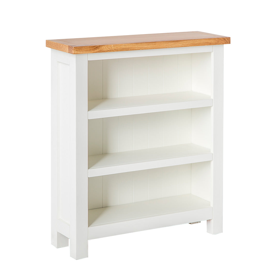 Farrow White Low Bookcase by Roseland Furniture