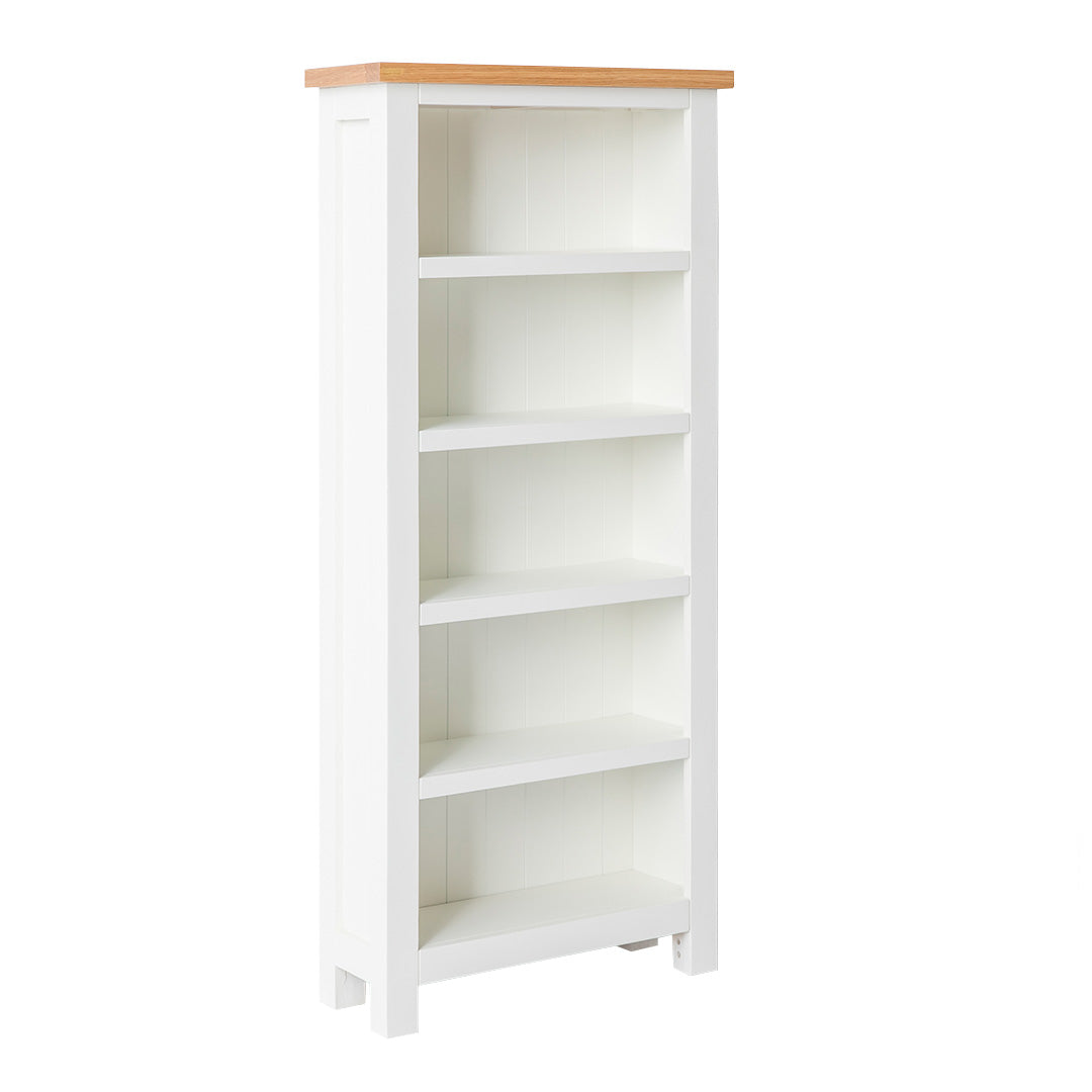 Farrow White Narrow Bookcase by Roseland Furniture