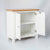 Side internal view of the Farrow White Small Cupboard