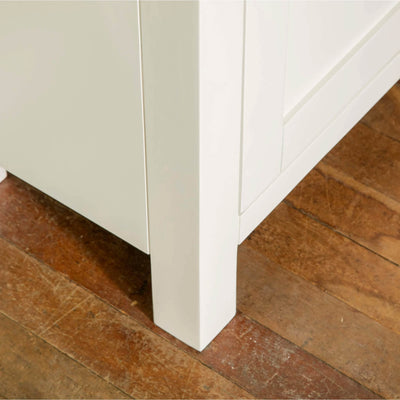 Farrow White Small Sideboard Unit front leg view