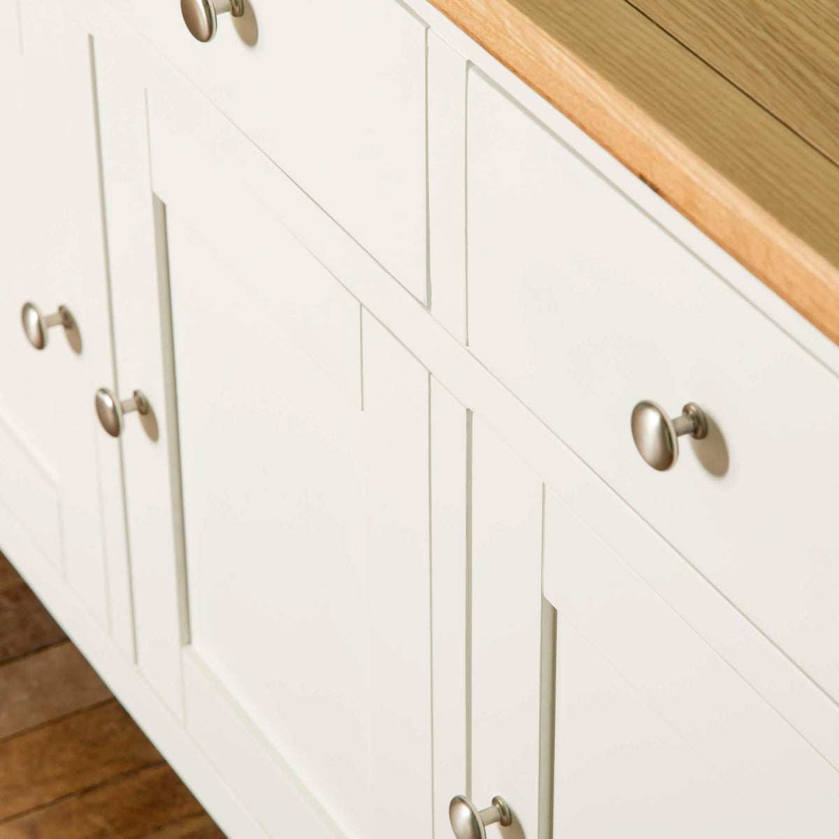 Farrow White Large Sideboard Unit front cupboard view