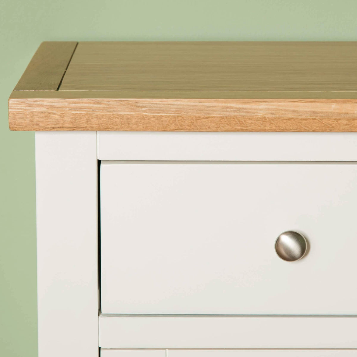 Farrow White Large Sideboard Unit top front drawer view