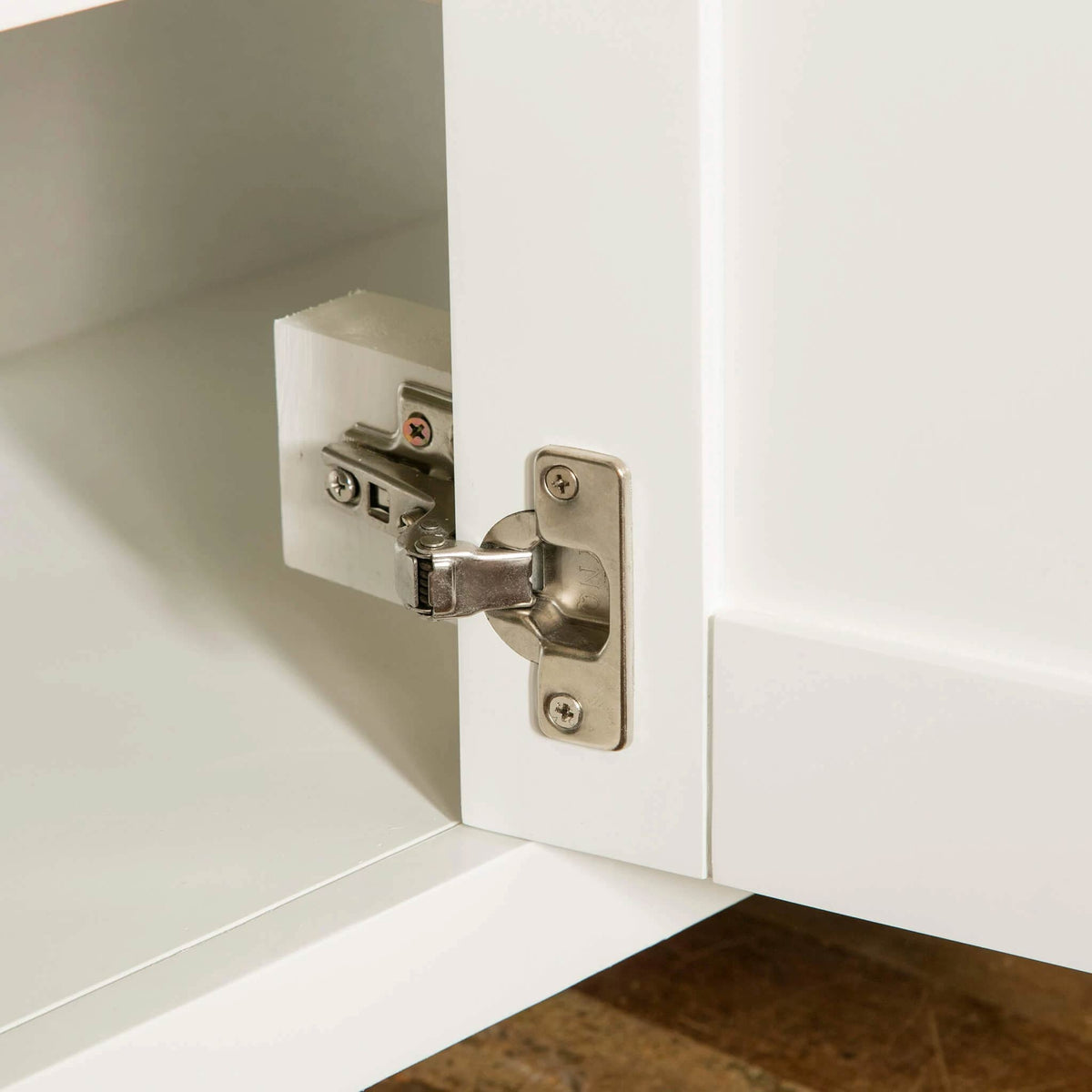 Farrow White Large Sideboard Unit hinge view