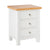 Farrow White 3 Drawer Bedside Table by Roseland Furniture