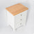 top view of the Farrow White 3 Drawer Bedside Table Nightstand