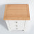 Oak top view of the Farrow White 3 Drawer Bedside Table