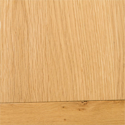 Farrow White 3 Drawer Bedside Table top close up view