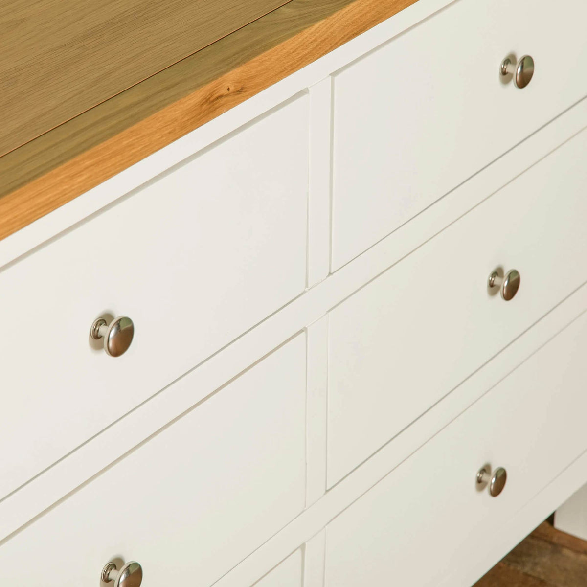 Farrow White 6 Drawer Chest of Drawers drawer mid section view
