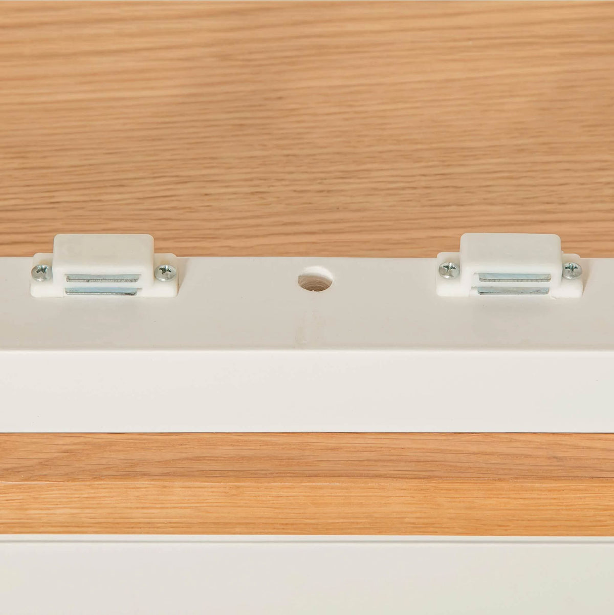 Farrow White Double Wardrobe bottom door catches