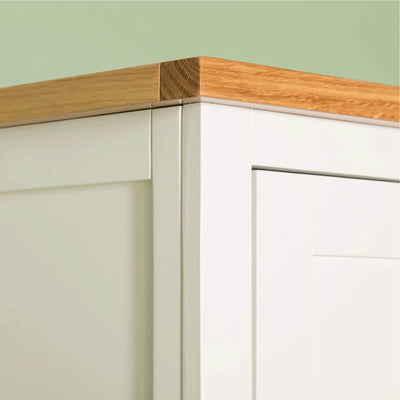 Farrow White Triple Wardrobe top front corner view