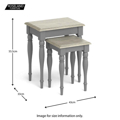 Mulsanne Grey Nest of Tables