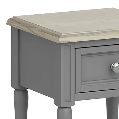 The Mulsanne Grey Side Table - Close Up of Top of Table