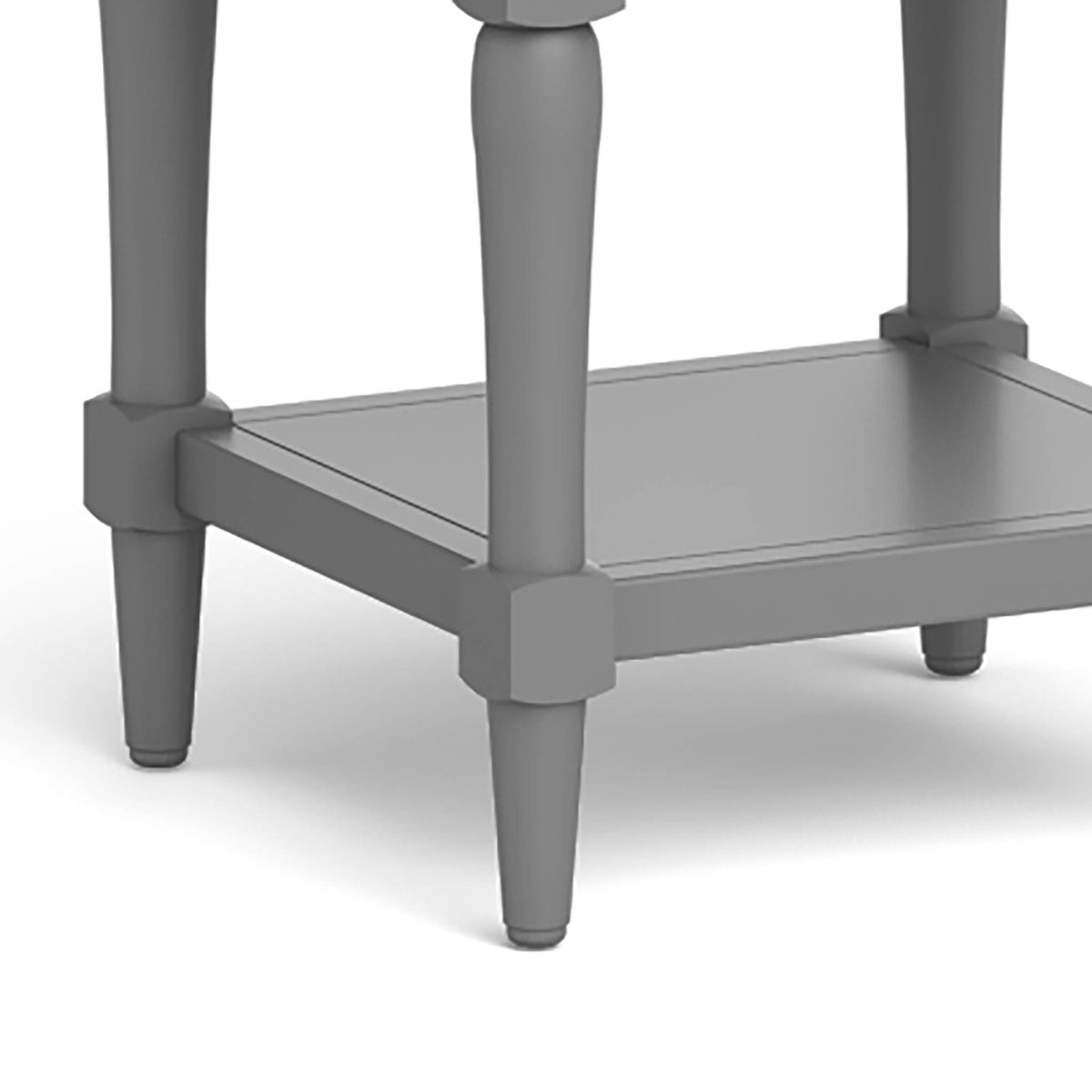 The Mulsanne Grey Side Table - Close Up of Table Legs