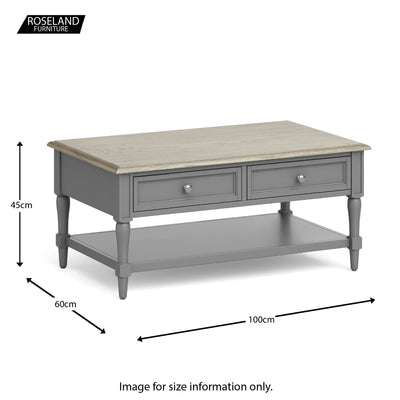The Mulsanne Gray French Style Wooden Accent Table from Roseland Furniture