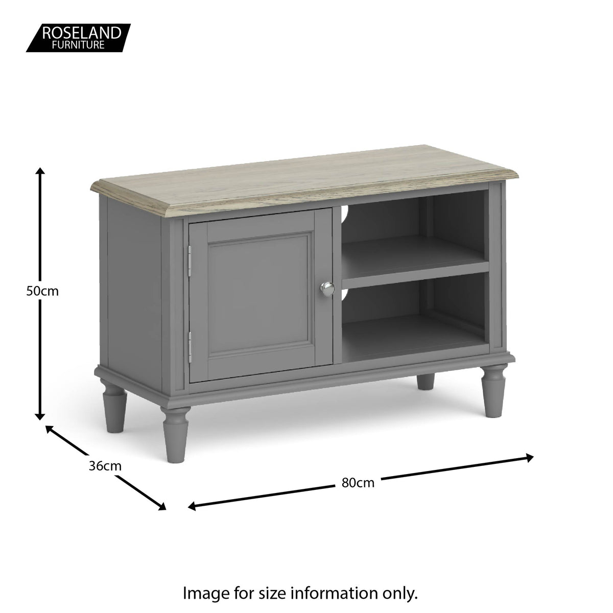 The Mulsanne Grey French Wooden Television Stand with Storage Cabinet from Roseland Furniture