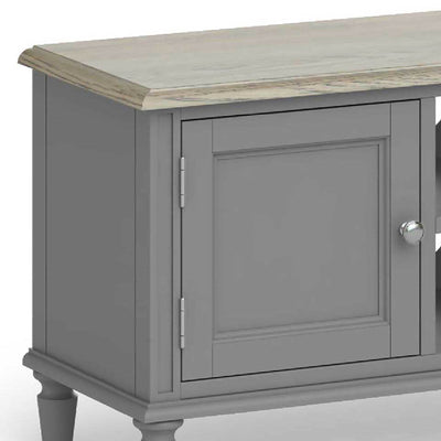 The Mulsanne Grey Small TV Unit - Close Up of Cupboard