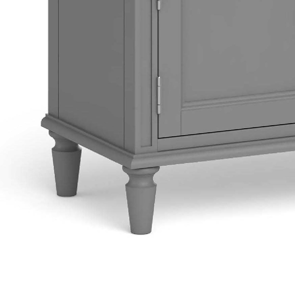 Mulsanne Grey Large Sideboard - Close Up of Feet