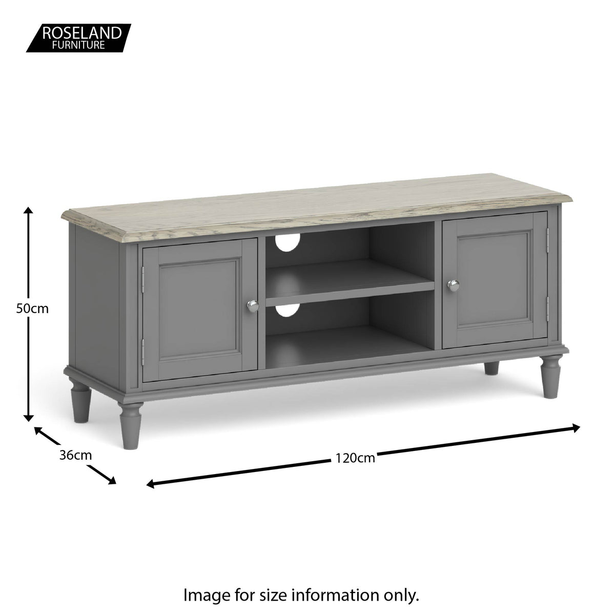 The Mulsanne Grey French Style Wooden Television Stand