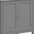The Mulsanne Grey Wooden Corner Cupboard - Close Up of  Cupboard Doors
