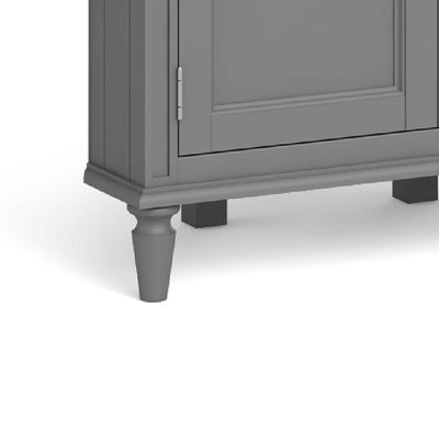 The Mulsanne Grey Wooden Corner Cupboard - Close Up of  Legs