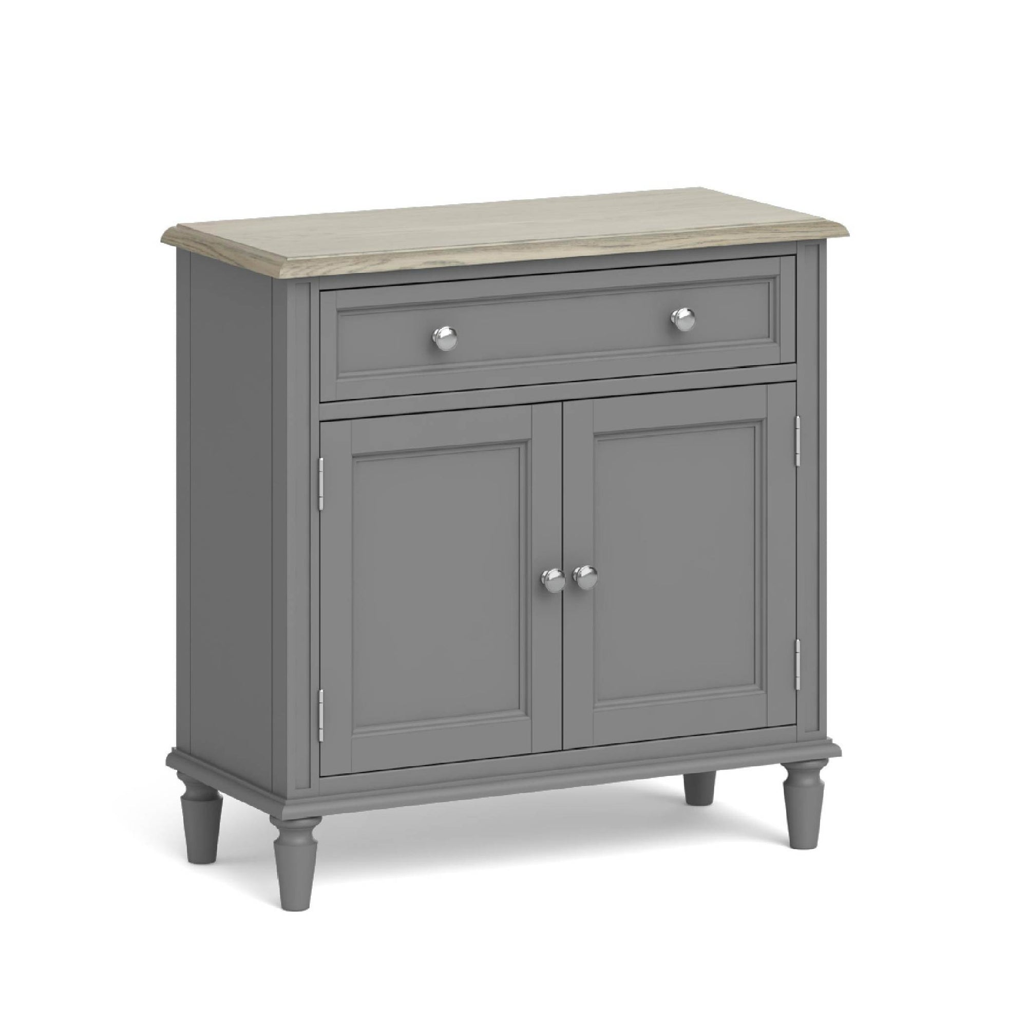 The Mulsanne Grey French Style Small Sideboard by Roseland Furniture