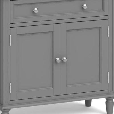 The Mulsanne Grey Mini Sideboard - Close Up of Cupboard Doors