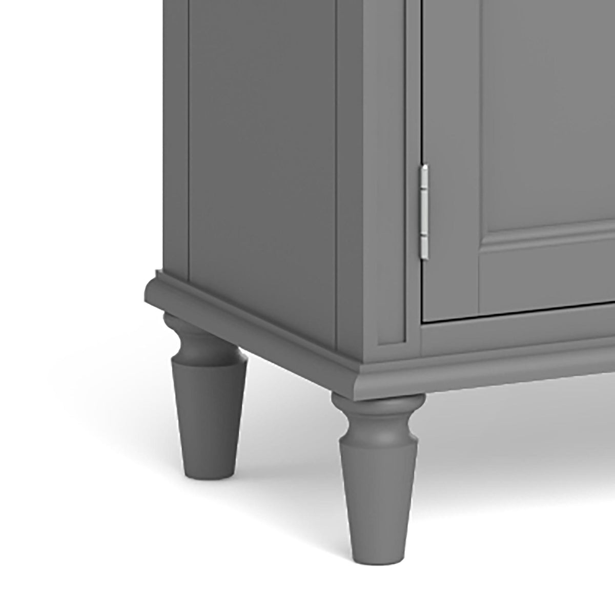 The Mulsanne Grey Mini Sideboard - Close Up of Feet