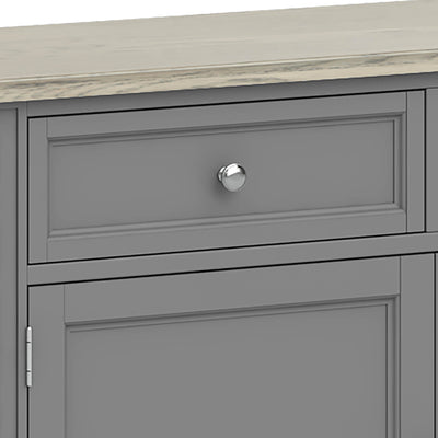 Mulsanne Grey Small Sideboard - Close Up of Drawer